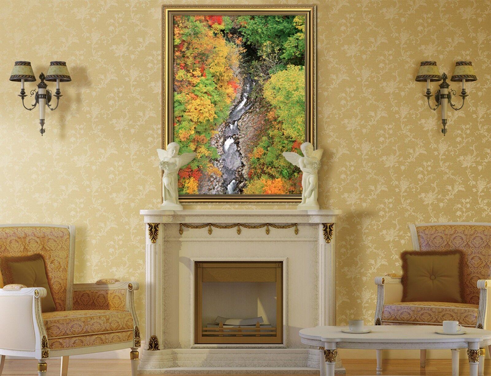 3D arrondi River 47 Framed Poster Home Decor imprimer peinture art AJ UK