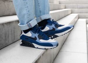 Details about Nike Air Max 90 Leather Blue VoidBlack Ashen Slate 302519 400 Mens Sz 10