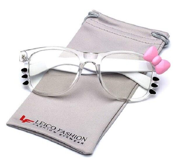 e4255cf2d Buy Hello Kitty Bow Women's Fashion Clear Lens Glasses With and Whiskers  online | eBay