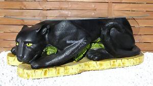 Schwarzer Panther Wohnzimmertisch Couchtisch Beistelltisch Tisch Deko Neu