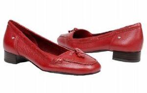 5 Adiprene Lilly Rockport Leather Flats Sz Med Red 5 New 715389339398 Inside Adidas Loafer vvrXqw