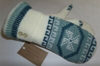 Sweater Mittens Ivory Gray Windmill Fleece Lined Recycled Valley View Farms