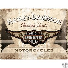 Harley Davidson Classic Logo - 3D Metal Wall Sign. Size : 30cm by 40cm