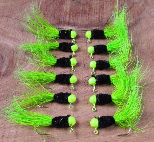12 Grandpa/'s Crappie Jig 1//32oz Eagle Claw Hook Deer Hair Hooked on Granpa/'s Jig