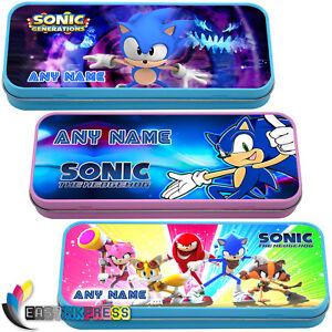 Le Prix Le Moins Cher Sonic Hedgehog Personnalisé Trousse Tin Sega Nom Cadeau école Stationnaire Fun-afficher Le Titre D'origine Couleur Rapide