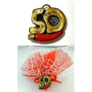 25pz Bomboniera Segnaposto Festa 50 Anni Compleanno Nozze Matrimonio