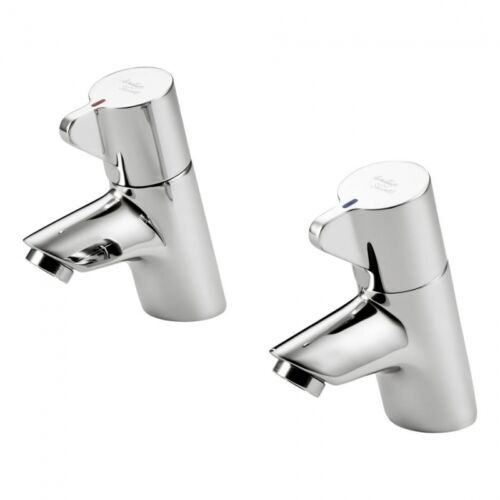 Armitage Shanks Nuastyle 21 basin ar tap pair in chrome. Sink taps B8262AA