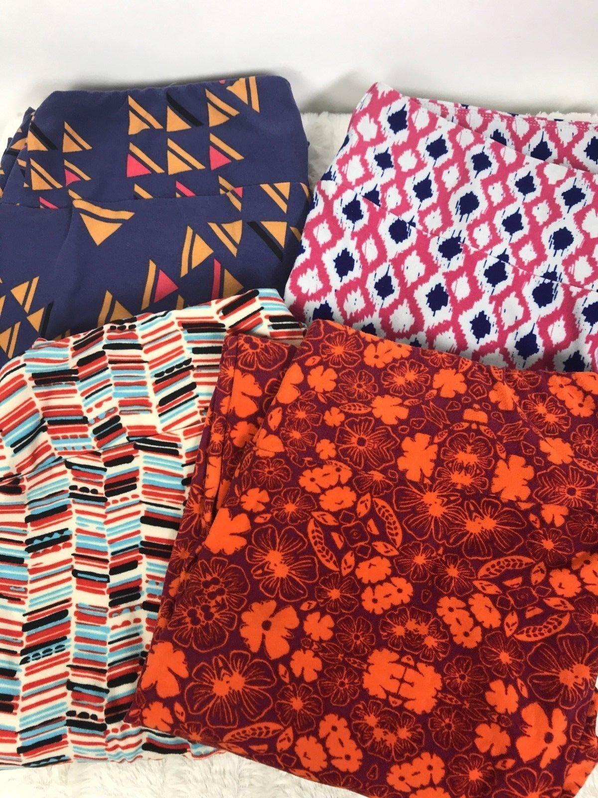 LuLaRoe TC tall & curvy leggings lot of 4 Fun Patterns Geometric Floral