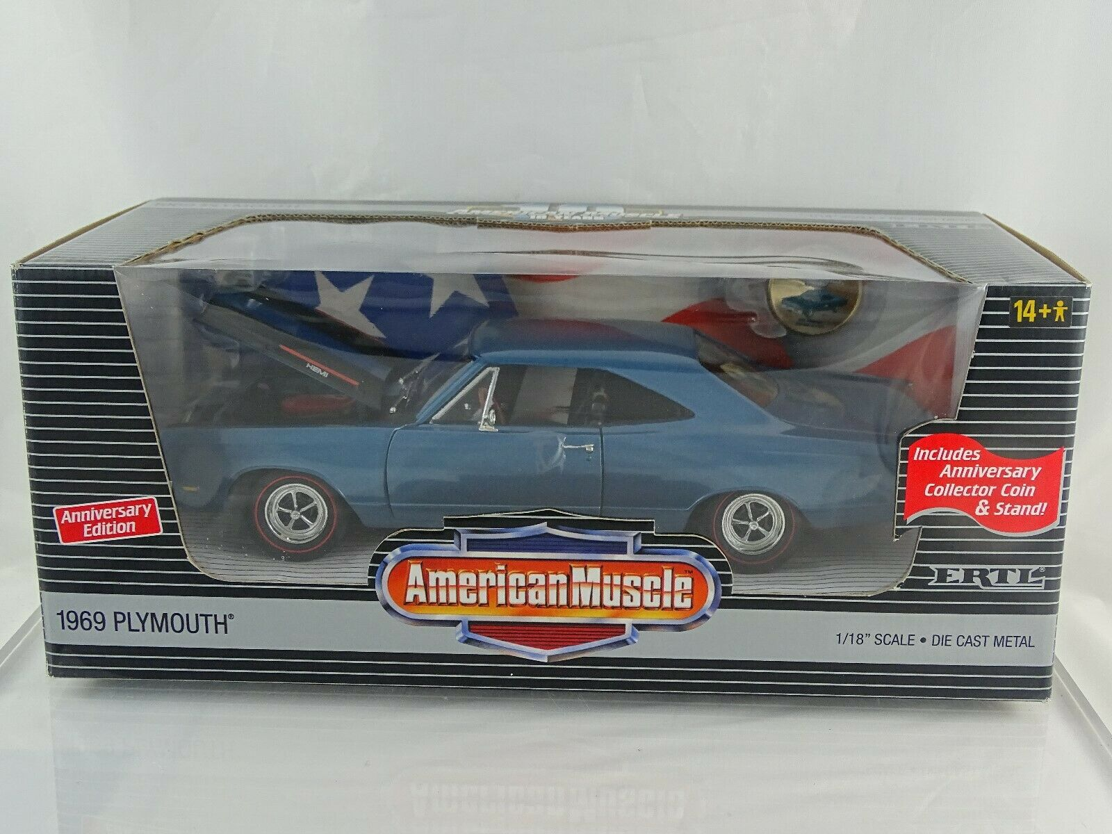 1 18 American Muscle  32922 1969 Plymouth Hemi limitée Nouveau Neuf dans sa boîte