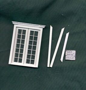 Half 1//24 Scale Door by Bespaq S807NWN Craftsman style dollhouse miniature
