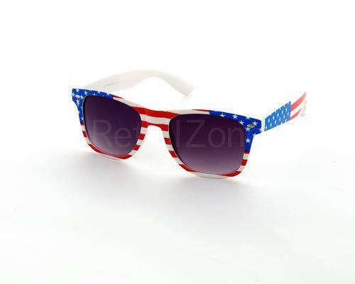 Usa Stars Stripes Fashion Festival Wedding Sunglasses Retro 80S Fashion Geek