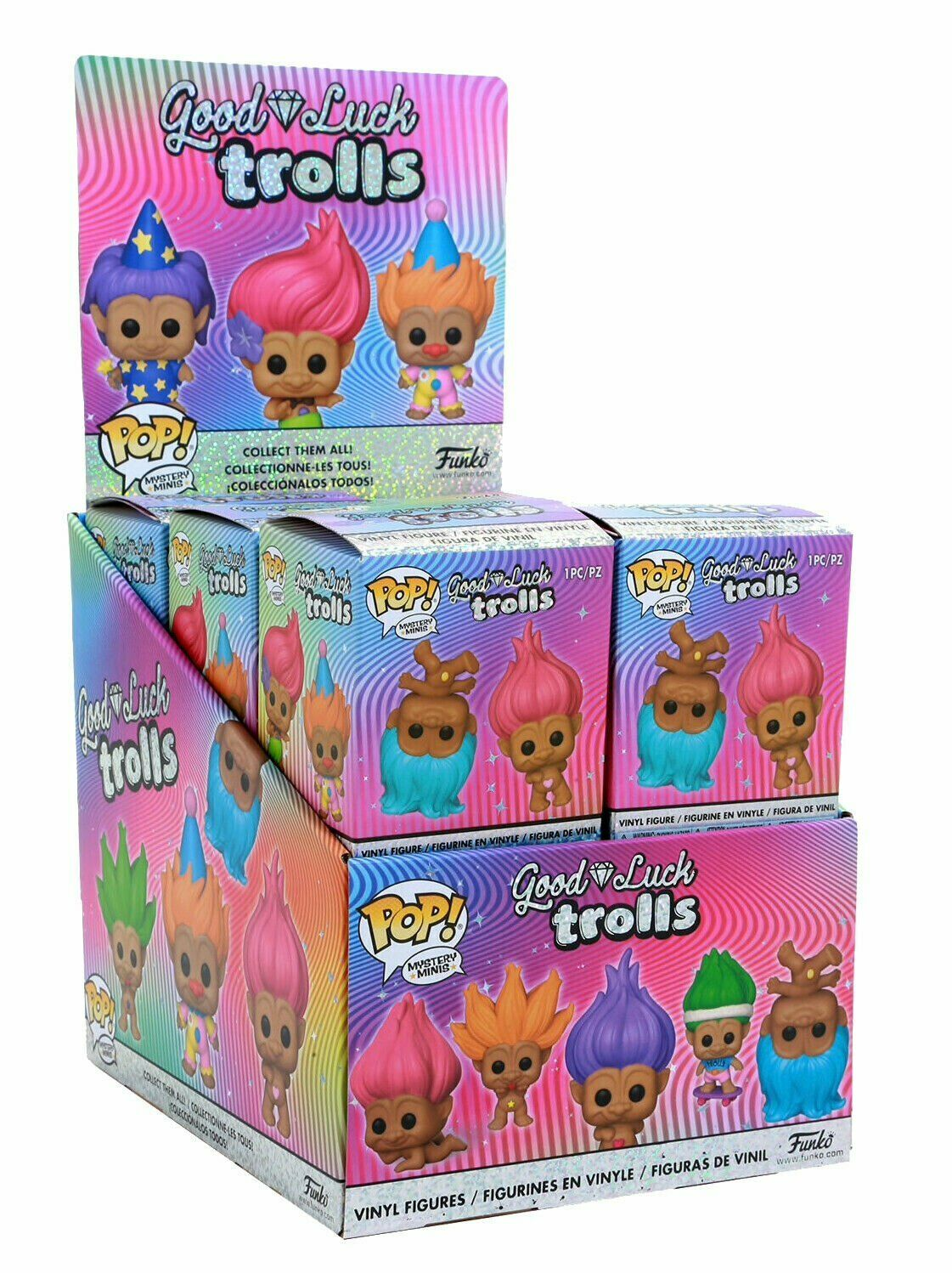 Funko Mystery Minis Good Luck Trolls Sealed Case 12 Boxes IN-HAND