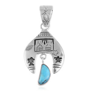 Southwest-Jewelry-Chain-Pendant-Necklace-925-Sterling-Silver-Turquoise-Gift