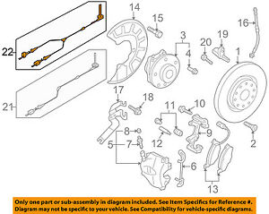 details about vw volkswagen oem tiguan abs anti lock brakes front sensor wire left 5n0927903m Brake System