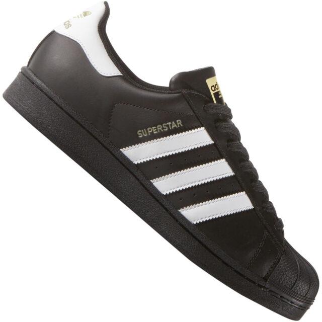 159ba9e041c410 adidas Originals Superstar Foundation Black White Classic Mens Shoes B27140  7