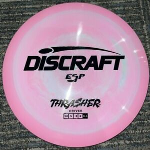 DISCRAFT ESP THRASHER SWIRLY DISC GOLF DRIVER 173-4G PINK / BLACK @ LSDISCS