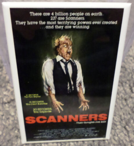 "Scanners Movie Poster 2/"" x 3/"" Refrigerator Locker MAGNET Horror Suspense"