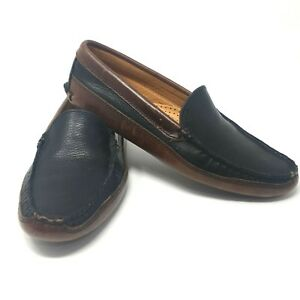 40e96873d8d7 Allen Edmonds Mens Waverly 42630 Blue Leather House Shoes Slippers ...