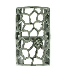 Natural-Pave-Diamond-925-Solid-Sterling-Silver-Designer-Filigree-Ring-Size-7-75