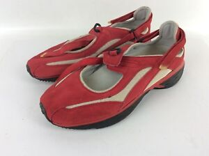 Wavespring-Red-Upper-Leather-Comfort-Shoes-Size-10-5