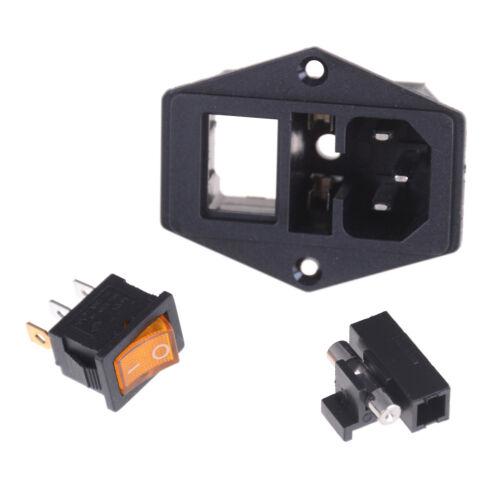 10A 250V Inlet Module Plug Fuse Switch Male Power Socket 3 Pin IEC320 C14 UK