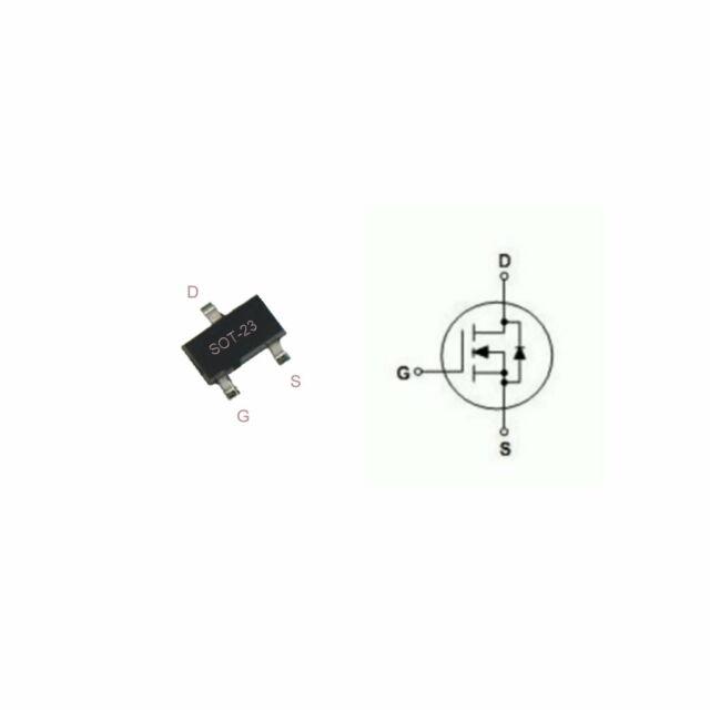 Lot of 15 IRLML5103 International Rectifier HEXFET Power MOSFET 30V 0.76A SOT-23