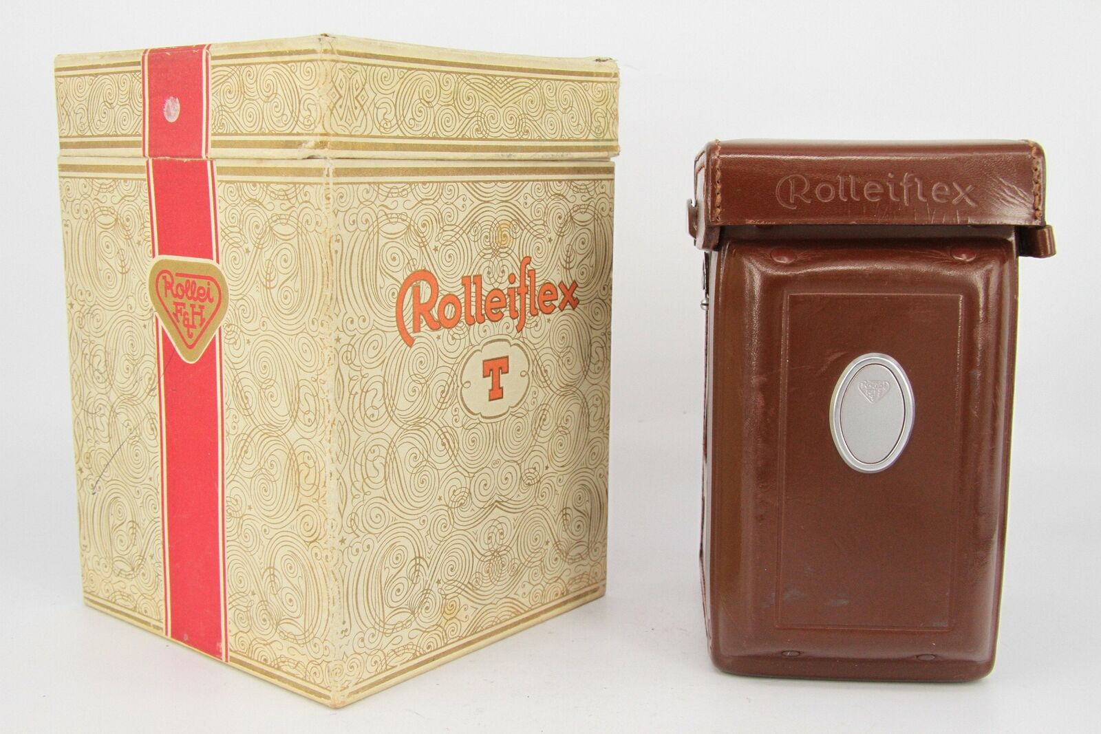 Rolleiflex Rollei Original Box & Ever Ready Leather Case for Model T TLR - Pr...