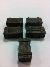 Legendary Realms Terrain - Accessory - Box, Wooden - Set of 5