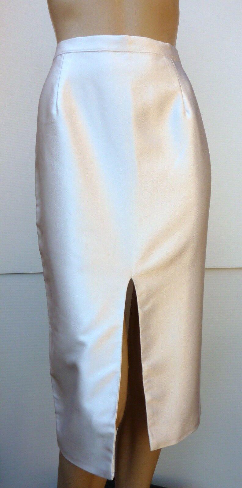 MISHA High End Designer Australia Lady Skirt Size L Pencil Pearl White Formal