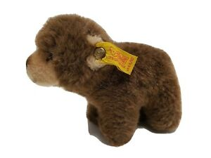 STEIFF-1444-12-BROWNIE-Brown-Bear-w-Button-amp-Ear-Tag-Plush-Stuffed-Animal