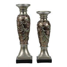 D'Lusso Designs TT02 Shandra Design Two Piece Hurricane Candlestick Set NEW