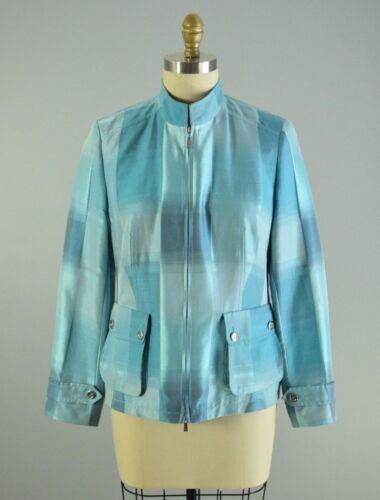 Forreste Blue Designer Zip Tysk Jakke Basler 40 Størrelse Eur Sheen Aqua xFYtUSqw