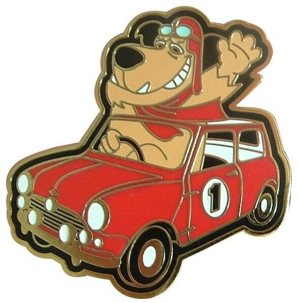 Muttley Drives The Classic Mini Cooper Car Clubman Countryman Enamel