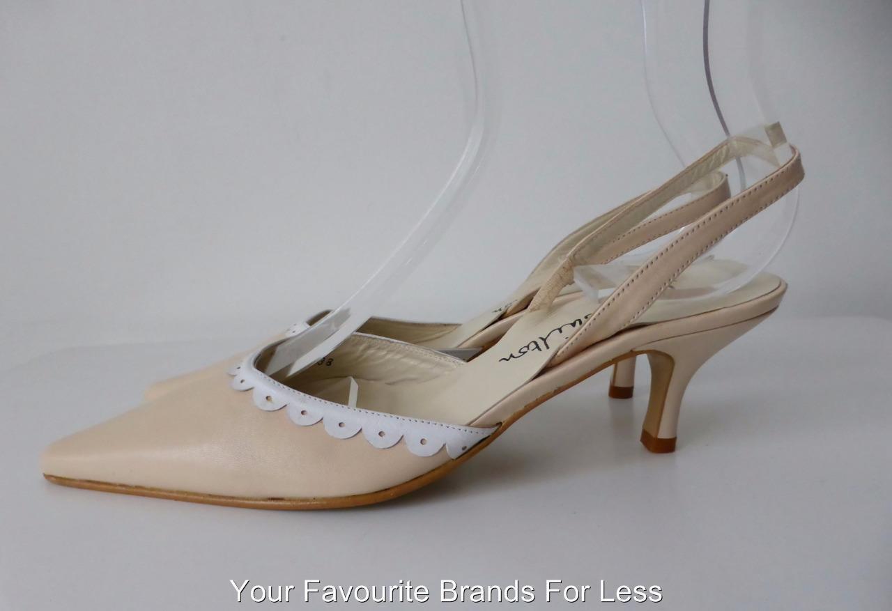 JANE SHILTON Size Size Size 38 Pelle Slingback Shoes 1724d1