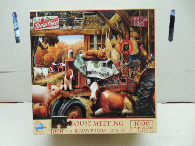 Barnhouse Meeting Puzzle Used In Box Cow Pig Cat Dog ...