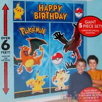 Pokemon Pikachu & Friends Wall Poster Decoration Kit Birthday Party Supplies