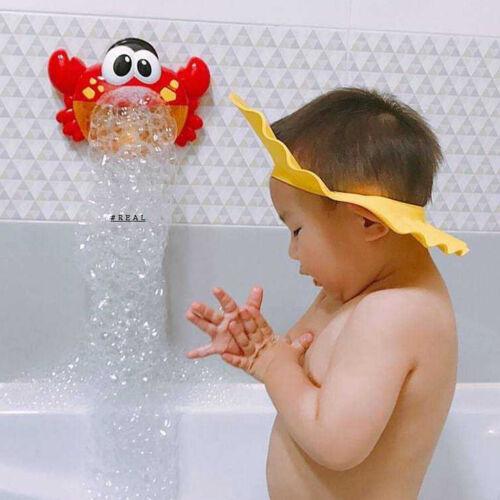 Kids Bubble Machine Crab Shape Automatic Bubble Maker Blower Music Bath Toy