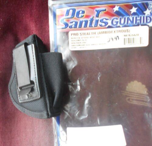 Desantis N87 IWB Nylon Holster Beretta Jetfire,Minx,Seecamp Black Ambi D215