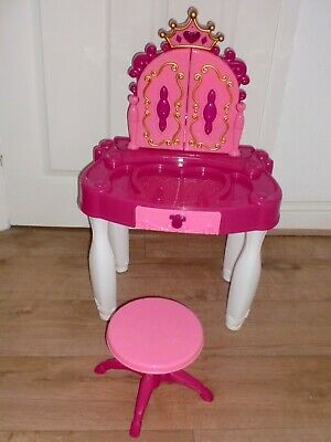 Girls Kids Childrens Pink Lights And Sounds Vanity Dressing Table With Mirror Ebay
