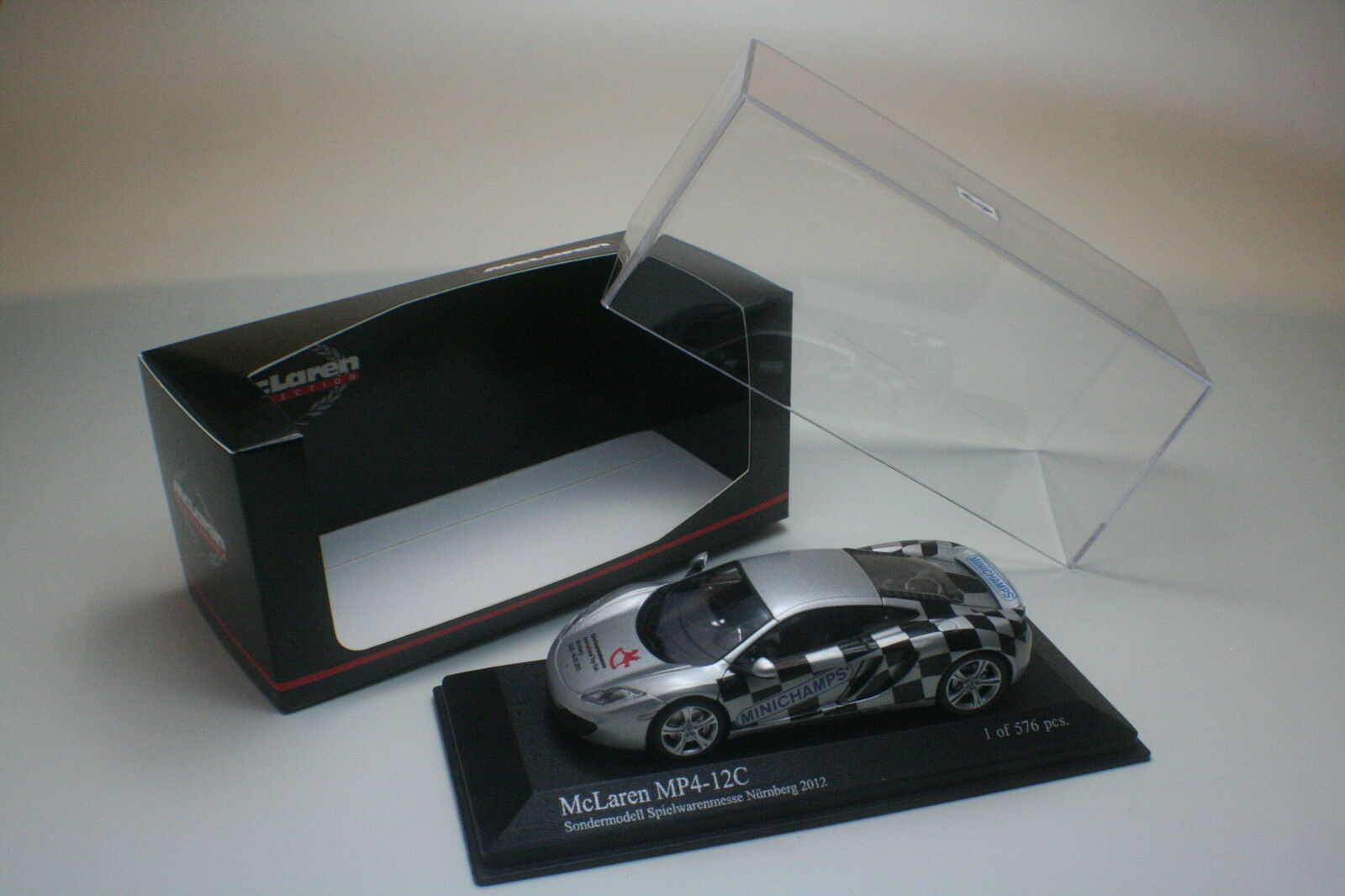 McLaren mp4-12c Toy Fair 2012 Norimberga Minichamps 1 43 NUOVO OVP