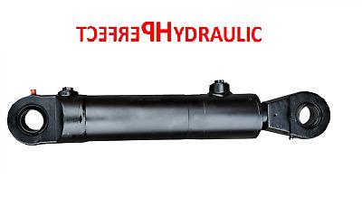 Hydraulikzylinder einfachwirkend 50//28 Hub 250 mit Gelenkaugen 25mm