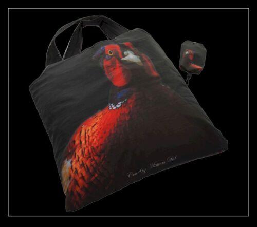 Paese questioni Fagiano Design Pieghevole Shopping Bag in un sacchetto ripiegare