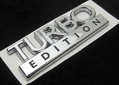 TURBO EDITION CHROME BADGE EMBLEM BRAND NEW VAUXHALL SAAB VW AUDI PEUGEOT ETC