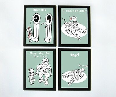 Bioshock Little Sister Educational Posters - Set of 4