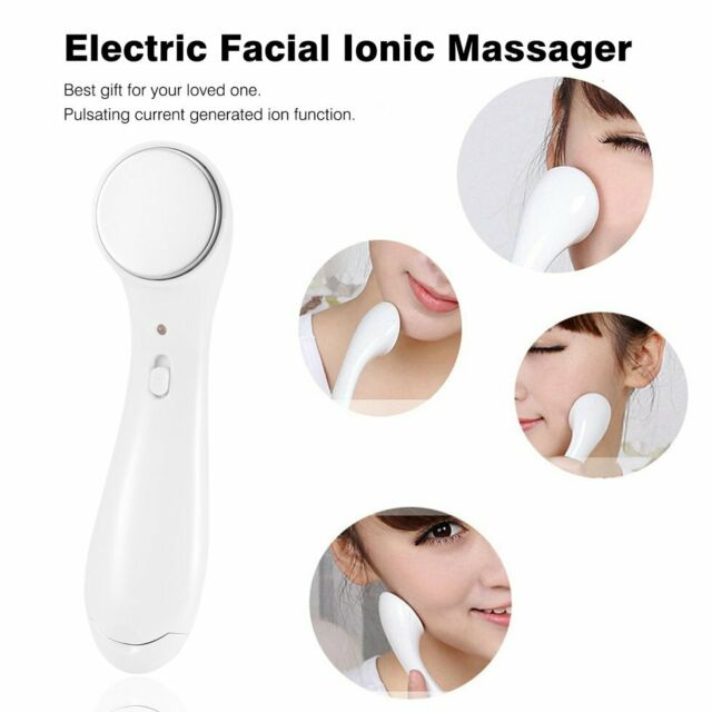 Electric Facial Cleanser Ionic Massager Anti Aging Vibrating Massage Skin Care@