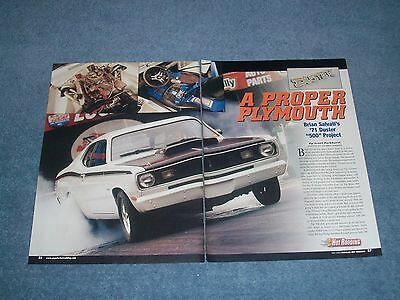 1971 Plymouth Duster Drag Artikel A Proper Plymouth