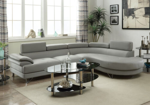 Couch Sofa Sectional Curved Room Living, Faux Leather Curved Sectional Sofa