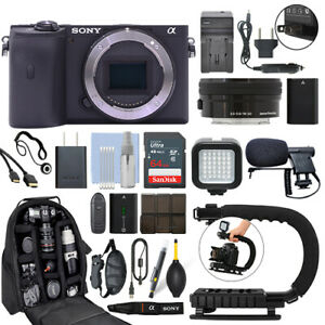 Sony Alpha a6600 Mirrorless Digital Camera with 16-50mm Lens+ 64GB Pro Video Kit