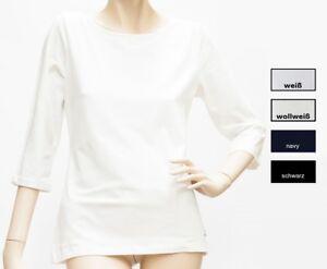 Shirt-3-4-Arm-Rundhals-Schulterraffung-Baumwolle-Modal-36-48-1057