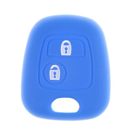 2 botones de silicona shell remoto clave caja FOB cubierta para DF Peugeot 206